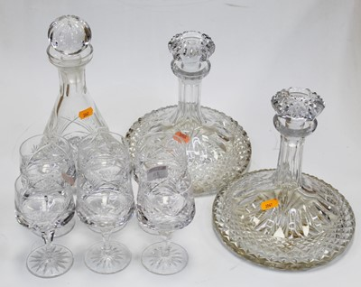 Lot 18 - A pair of Galway crystal ships decanters and...