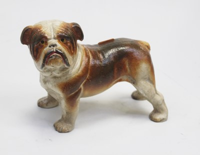 Lot 20 - A cast iron doorstop in the form of a bulldog,...