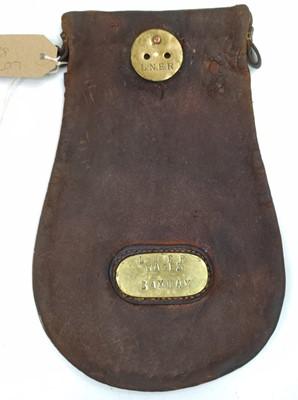 Lot 51 - An original LNER wages cash bag, brass plated...