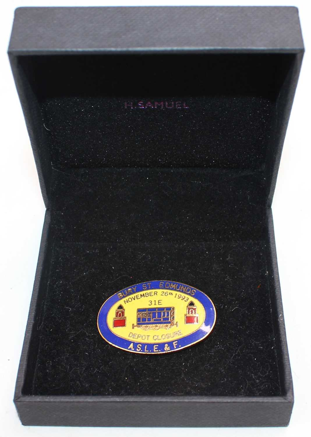 Lot 54 - Collectable enamel ASLE&F badge for the...