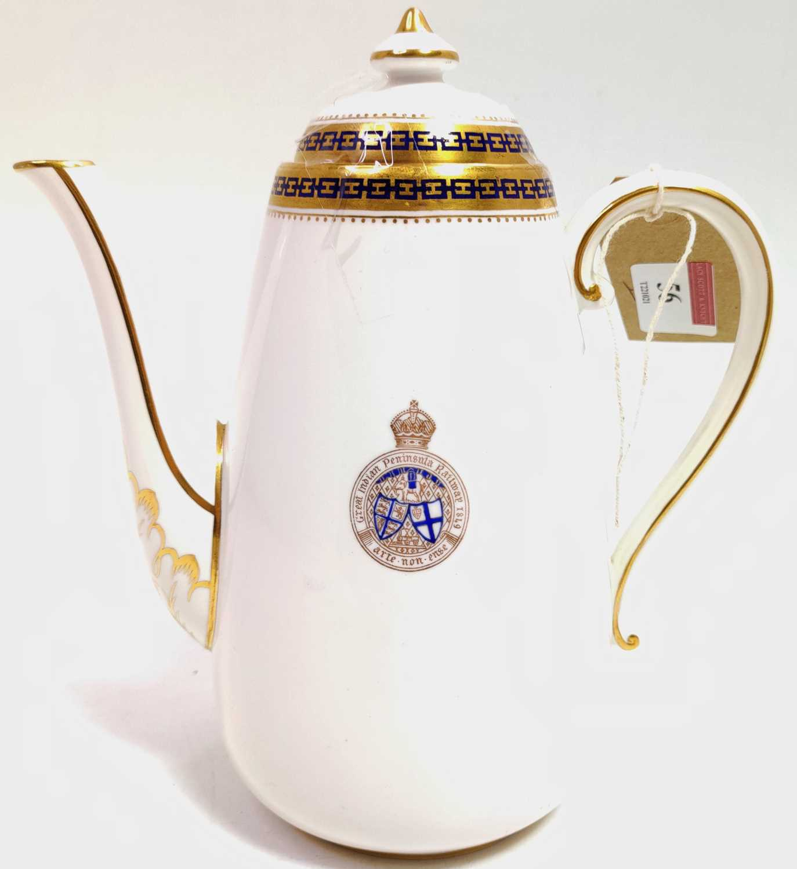 Lot 56 - A Copeland Spode Porcelain Coffee Pot, white...