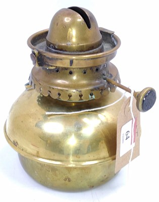 Lot 64 - A brass Indian Railways ceiling lamp marked...