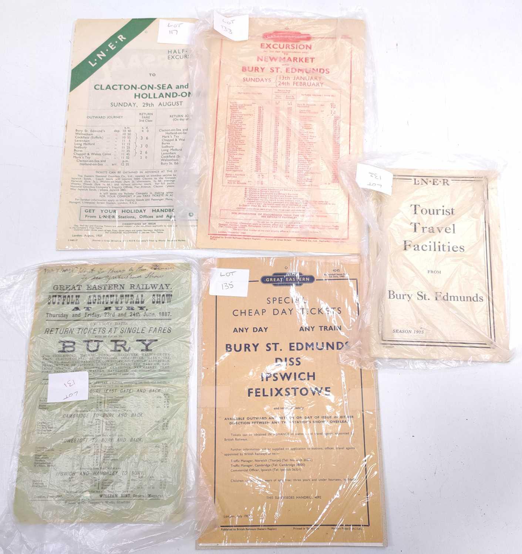 Lot 66 - Collection of ephemera relating to Bury St...