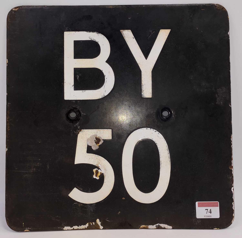 Lot 74 - Original enamel railway signal identification...
