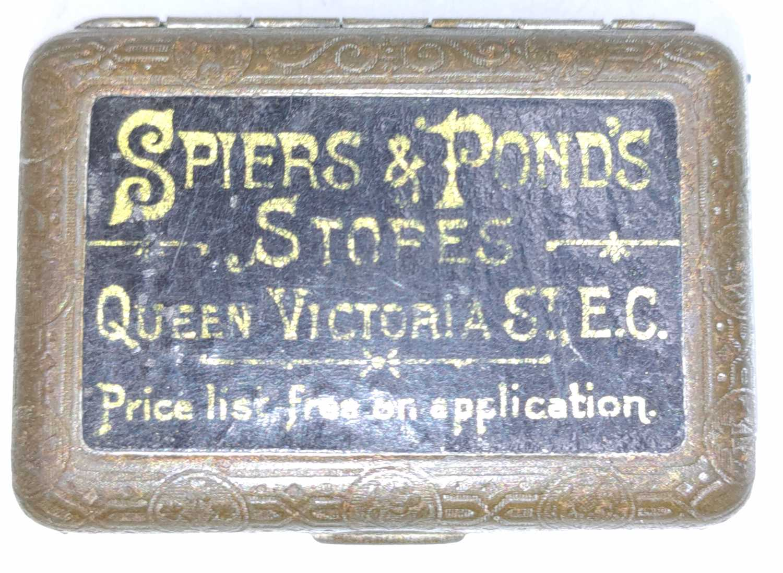 Lot 75 - Original GER tinplate match vesta, Spiers and...