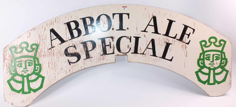 Lot 82 - Original wooden locomotive headboard plate...