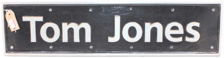 """Lot 85 - Original ex Class 142 DMU """"Tom Jones"""" Name..."""