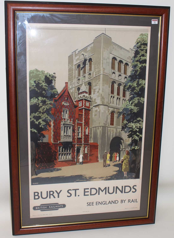 Lot 91 - Original BR Eastern Region Bury St Edmunds...