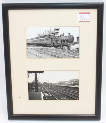 Lot 92 - Two framed and glazed photographs depicting...