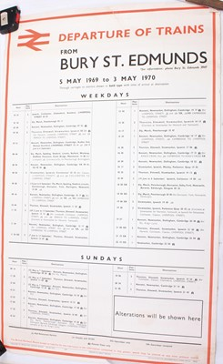 Lot 94 - Two double royal size timetable poster for...