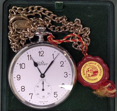 Lot 95 - Italian States Railway Perseo pocket watch,...