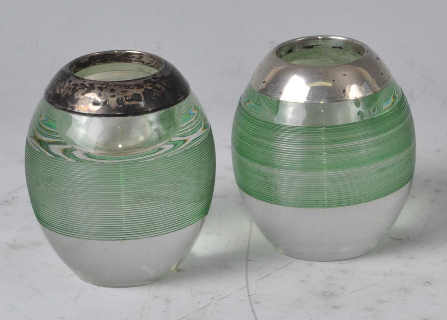 Lot 90 - A pair of circa 1900 clear and green tinted...