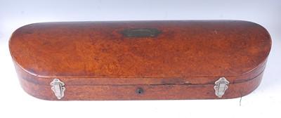 Lot 511 - A Victorian burr walnut double violin case,...