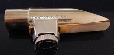 Lot 519 - A Lawton Alto Saxophone mouthpiece No. 6 star...