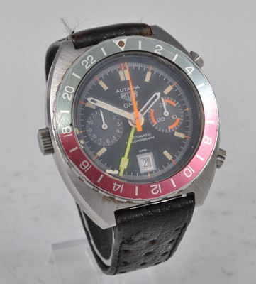 Lot 1163 - A gent's stainless steel Heuer Autavia GMT...