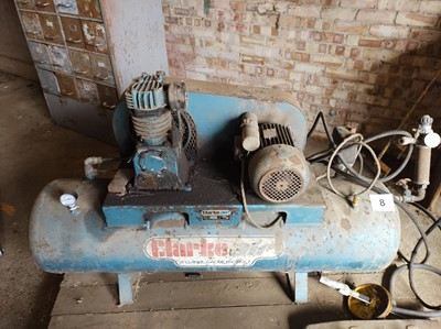 Lot 8 - Clarke Air Compressor & Tools (With Certificate)