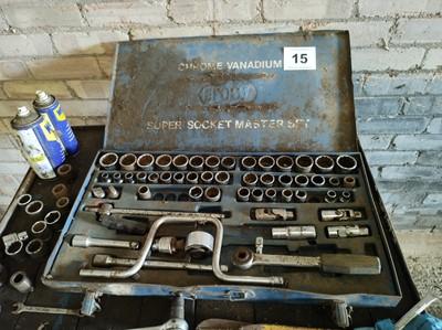 Lot 15 - Chrome Vanadium Socket Set x2
