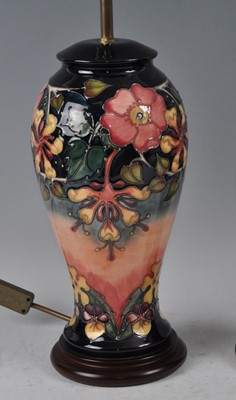 Lot 13 - A large Moorcroft pottery table lamp, in the...