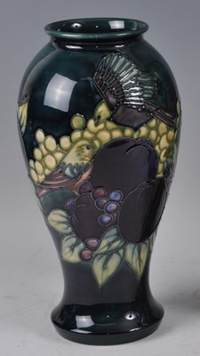 Lot 17 - A Moorcroft pottery vase, in the Finches &...