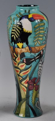 Lot 18 - A large Moorcroft pottery vase, in the Jaraqui...