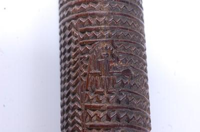 Lot 326 - A Polynesian Akau Povai ironwood pole club of...
