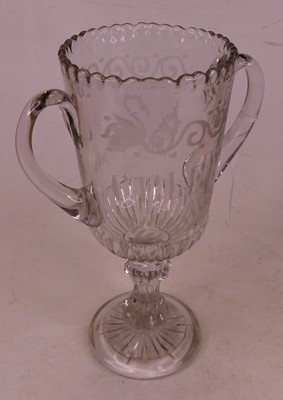 Lot 1 - A 19th century glass celery vase, the...