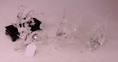 Lot 5 - A Swarovski Crystal model of 'The Pegasus',...