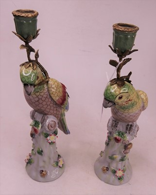Lot 11 - A pair of 20th century continental porcelain...