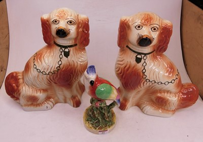 Lot 15 - A pair of 20th century Staffordshire style...