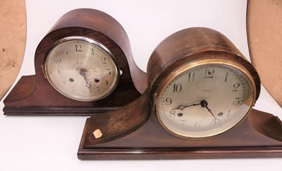 Lot 16 - An early 20th century mahogany cased eight-day...