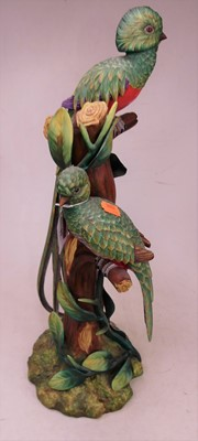 Lot 19 - A 20th century Portuguese porcelain model of...