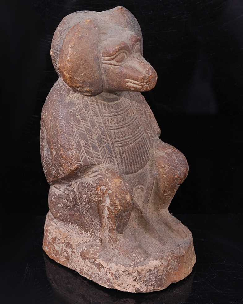 Lot 392 - A moulded and tooled terracotta figure of the...