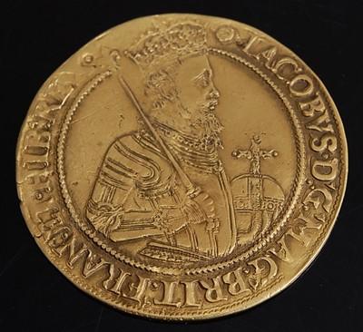 Lot England, James I (1603-1625), gold Unite,...
