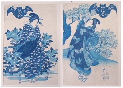 Lot Utagawa Toyokuni II (Toyoshige) (1777-1835) -...