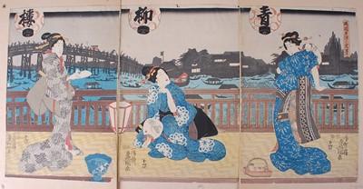 Lot Utagawa Kunisada (Toyokuni III) (1786-1865) –...