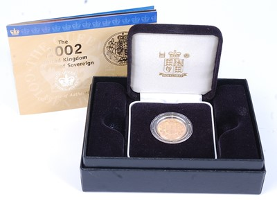 Lot Great Britain, 2002 gold proof full sovereign,...