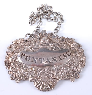 Lot * A George IV silver decanter collar, being...