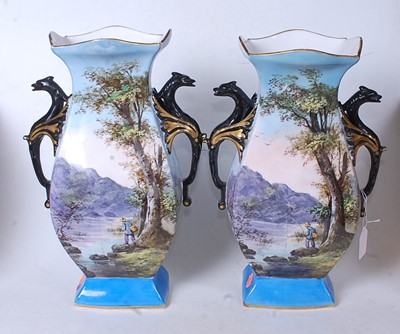 Lot 4 - A pair of early 20th century vases, of shaped...