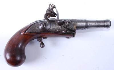 Lot An unusual 18th century flintlock pocket...