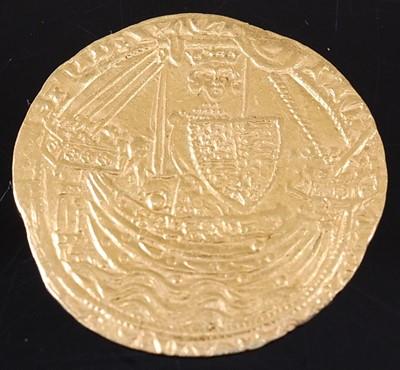 Lot England, Richard II (1377-99). Gold Noble of...