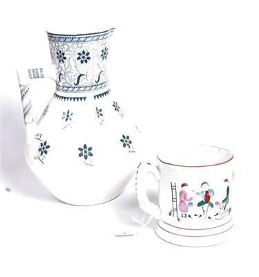 Lot 6 - A Staffordshire style surprise mug, relief...