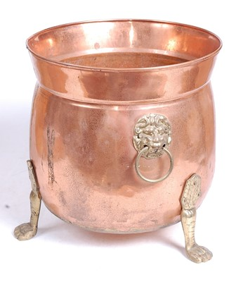 Lot 12 - An early 20th century copper and brass...
