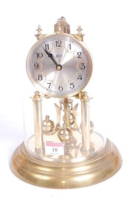 Lot 18 - A 20th century Schatz brass anniversary clock,...