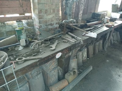Lot 17 - Workbench with Contents