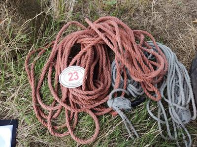 Lot 23 - Qty of Ropes