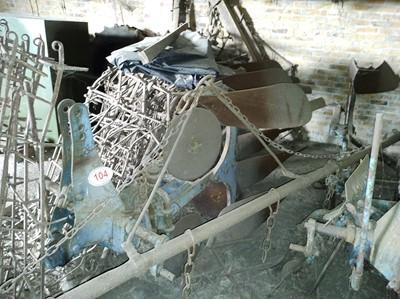 Lot 104 - Vintage Three Furrow Plough