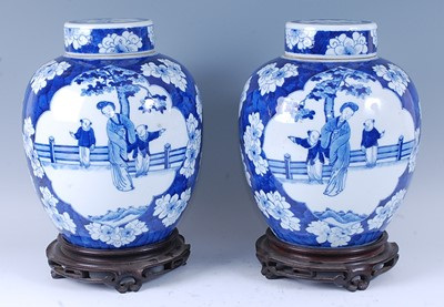 Lot A pair of 19th century Chinese export blue and...