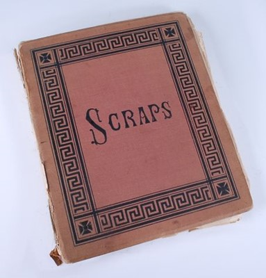 Lot A Victorian 'scrap' album containing a large...